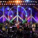 Ringo Starr performs during the Ringo Starr and his All Starr Band concert at The Greek Theatre on September 01, 2019 in Los Angeles, California - 454 x 302