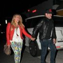 Hilary Duff and her husband Mike Comrie spotted out at The Shores bar in Santa Monica, CA (August 24)