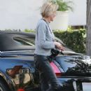Sharon Stone in Leather Pants – Out in Los Angeles