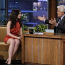 "Lily Collins Visits ""The Tonight Show with Jay Leno"""