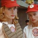 Geena Davis as Dotty Hinson and Bitty Schram as Evelyn Gardner in A League of Their Own (1992)