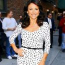 Julia Louis Dreyfus at the Late Show with David Letterman