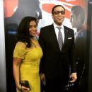 Djena Nichole Graves and Harry Lennix attend the 'Batman V Superman: Dawn Of Justice - March 20, 2016-New York . - 454 x 454