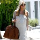 Sarah Michelle Gellar: shopping at a local Walgreens before going to the got Coffee Bean for a drink in Westwood