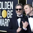 Joaquin Phoenix and Taron Egerton At 77th Golden Globe Awards (2020) - 454 x 330