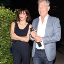 Katharine McPhee and David Foster – Arriving to the Simon Cowell 'Hollywood Star Celebration Party' in LA - 454 x 739