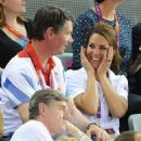 Kate Middleton, Prince William, and Prince Harry at the team cycling event on Day 6 of the 2012 Olympics (August 2)