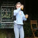 Lily-Rose Depp at Aroma Cafe in LA