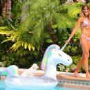 Kelly Bensimon in Bikini at her home in West Palm Beach