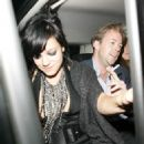 Lily Allen - Leaving The Groucho Club In London, 2009-10-08