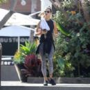 Alessandra Ambrosio – works up a sweat at Brooke Burke's Bootcamp in Malibu