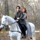 Colin Farrell Rides a White Horse
