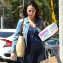 Jordana Brewster – Shopping Candids In Beverly Hills - 454 x 681