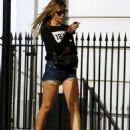 Abbey Clancy In Shorts Out In London
