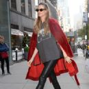 Behati Prinsloo – Arriving at the Victoria's Secret offices in New York