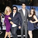 Gene Simmons, Shannon Tweed, Nick Simmons and Sophie Simmons attend the premiere of 'Oblivion' at the Dolby Theatre in Los Angeles