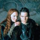 Joan Allen as Morgause and Hans Matheson as Mordred in The Mists of Avalon (2001) - 217 x 307