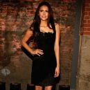 Nina Dobrev at the Christian Siriano Fall 2012 Fashion Show