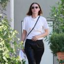 Rooney Mara – Visits the hair salon in West Hollywood