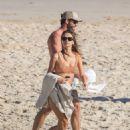 Gabriella Brooks in Bikini on the beach in Byron Bay - 454 x 596