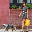Helena Christensen – With Her Dog out in New York - 454 x 485