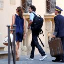 Eva Mendes And George Gargurevich Arrive At Their Vacation Destination
