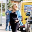 Danielle Armstrong – Showing baby bump with Tom Edney in Essex - 454 x 669