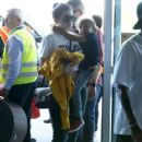 Kylie Jenner and Tyga spotted departing on a flight in Costa Rica on January 30, 2017