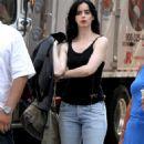 Krysten Ritter – On set of 'Jessica Jones' in New York - 454 x 838