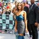 Olivia Culpo – Arrives at the AOL Build Series in New York City