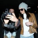 Kendall arrives at LAX January 28,2015
