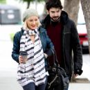 Christina Aguilera And Her Husband Jordan Bratman Acted Like A Pair Of Newlyweds As They Stopped By A Potential School For Their Son Max In Los Angeles, CA On December 21, 2009 - 454 x 769