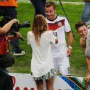 Mario Götze and Ann-Kathrin Kiss World Cup Final 2014 - 454 x 681
