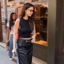 Bella Hadid in Black – Out in Paris