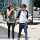 Louis Tomlinson was spotted grabbing coffee with his girlfriend Eleanor Calder today, May 30, in Toronto