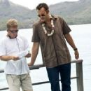 Director Peter Billingsley talk with Vince Vaughn on the set of Universal Pictures' Couples Retreat. - 454 x 330