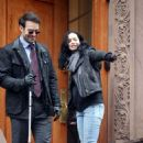 Charlie Cox and Krysten Ritter – On the Set of Marvel's The Defenders in New York 2/3/ 2017 - 454 x 699