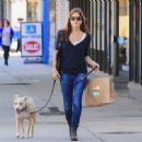 Selma Blair with her dog in Los Angeles - 454 x 332