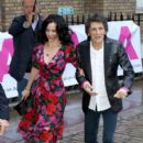 Ronnie Wood and Sally Humphreys attend the first annual gala dinner in recognition of Addiction Awareness Week at Phillips Gallery on June 12, 2019 in London, England - 399 x 600
