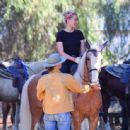Amber Heard – Horseback riding candids in LA