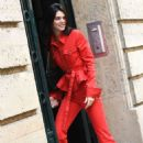 Kendall Jenner in Red – Out in Paris