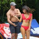 Roxanne Pallett and boyfriend Jason Carrion were seen at a pool party in Manhattan - 454 x 669