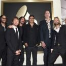 Musicians Franz Stahl, Chris Shiflett, Dave Grohl, Pat Smear, Krist Novoselic, Taylor Hawkins and Nate Mendel attend The 58th GRAMMY Awards at Staples Center on February 15, 2016 in Los Angeles, California. - 454 x 338