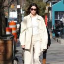 Kendall Jenner – Goes for a walk with friends after lunch in New York