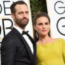 Natalie Portman and Benjamin Millepied : 74th Annual Golden Globe Awards - 454 x 302