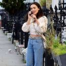 Amy Jackson – In her white blouse top and jeans out and about in Chelsea - 454 x 704