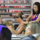 Lori Loughlin goes to a nail salon in Beverly Hills - 454 x 303