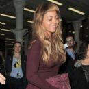 Beyonce Arriving In London