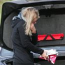Billie Piper On Her Cellphone As She Cleans Out Her Car - Feb 3 2008