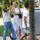 Miley Cyrus At A Restaurant In Malibu Beach